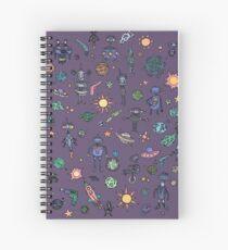 Space Robot Doodles Spiral Notebook
