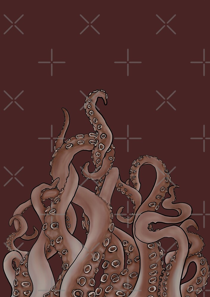 Tentacles From The Depths (in colour) by uzisuzuki