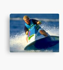 JD on a Jet Ski Canvas Print