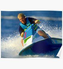 JD on a Jet Ski Poster