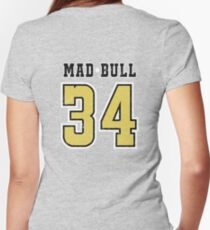 Mad Bull Jersey Women's Fitted V-Neck T-Shirt