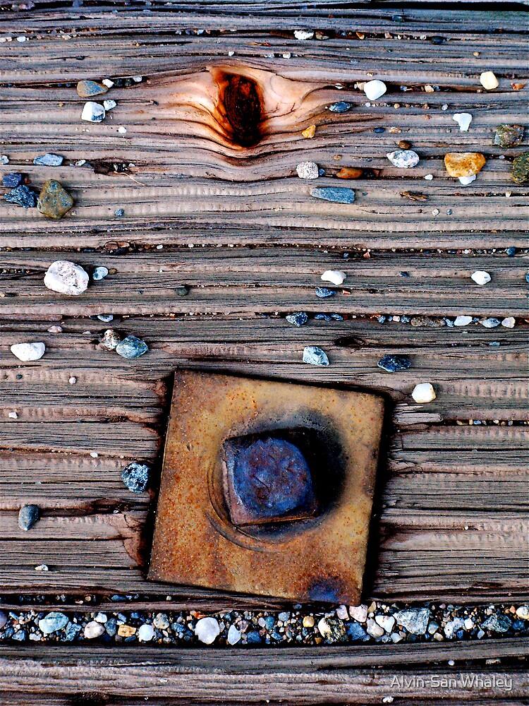 Bolt, Wood, Pebbles 'N Grit by Alvin-San Whaley