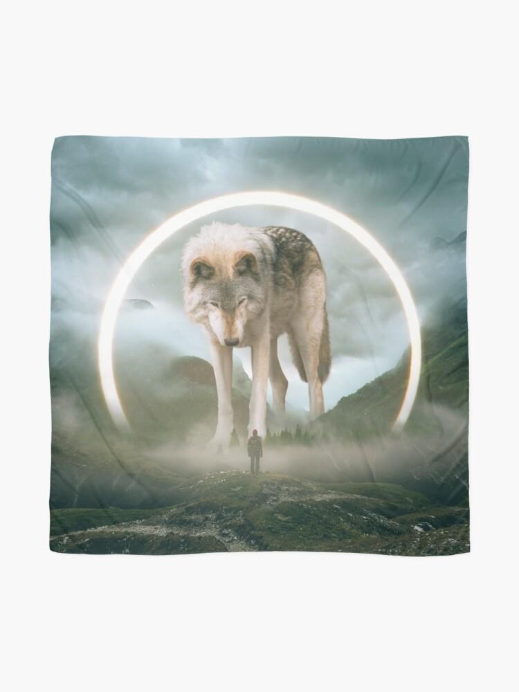 Alternate view of aegis | wolf Scarf