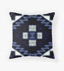 Iced Water Blue Throw Pillow