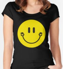 "Smiley Face ""Fist Pump"" Women's Fitted Scoop T-Shirt"