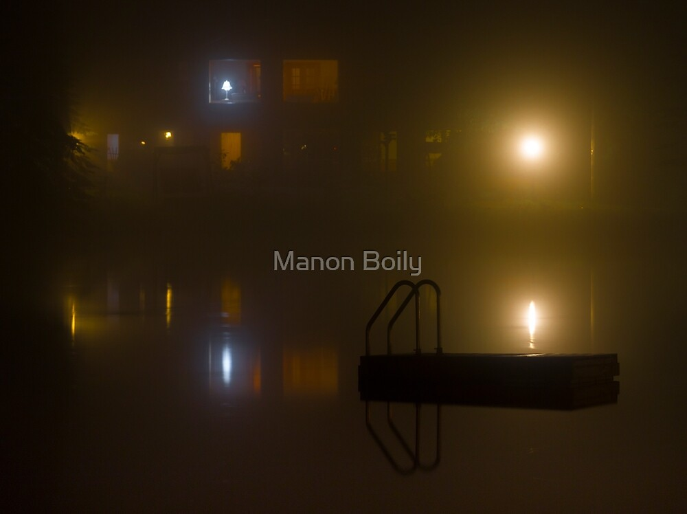 Foggy night  by Manon Boily