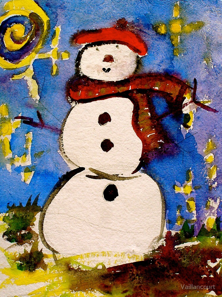 French Snowman in Santa Fe by Vaillancourt