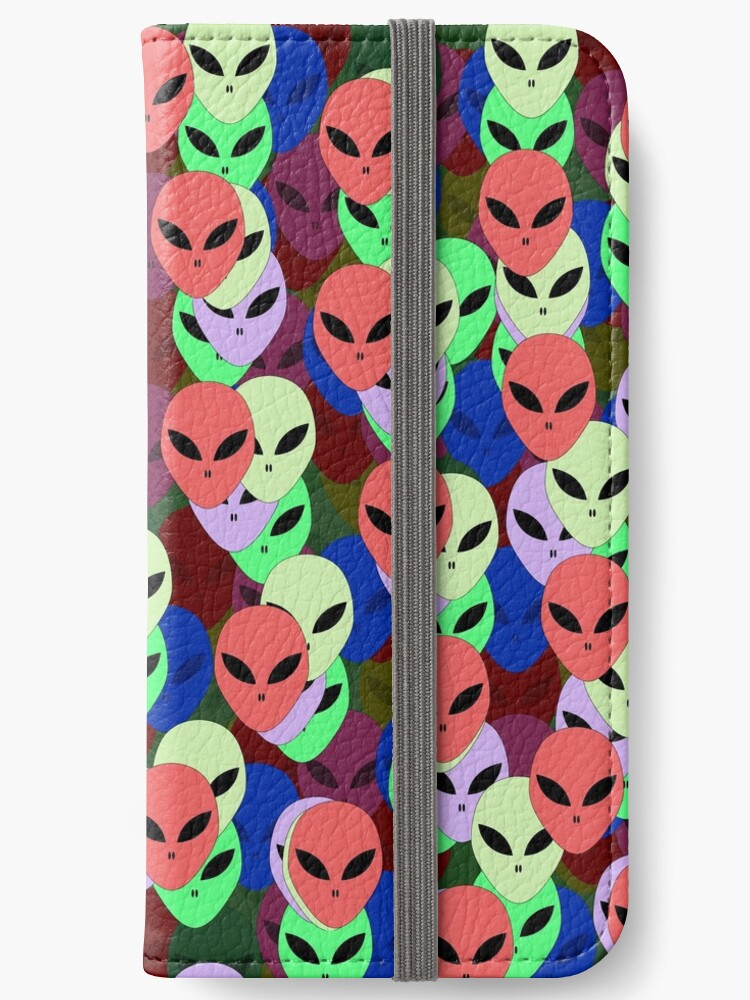 Colorful Alien faces, multi color UFO pattern by cool-shirts