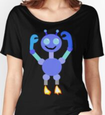 Multi-Colored Robot Women's Relaxed Fit T-Shirt