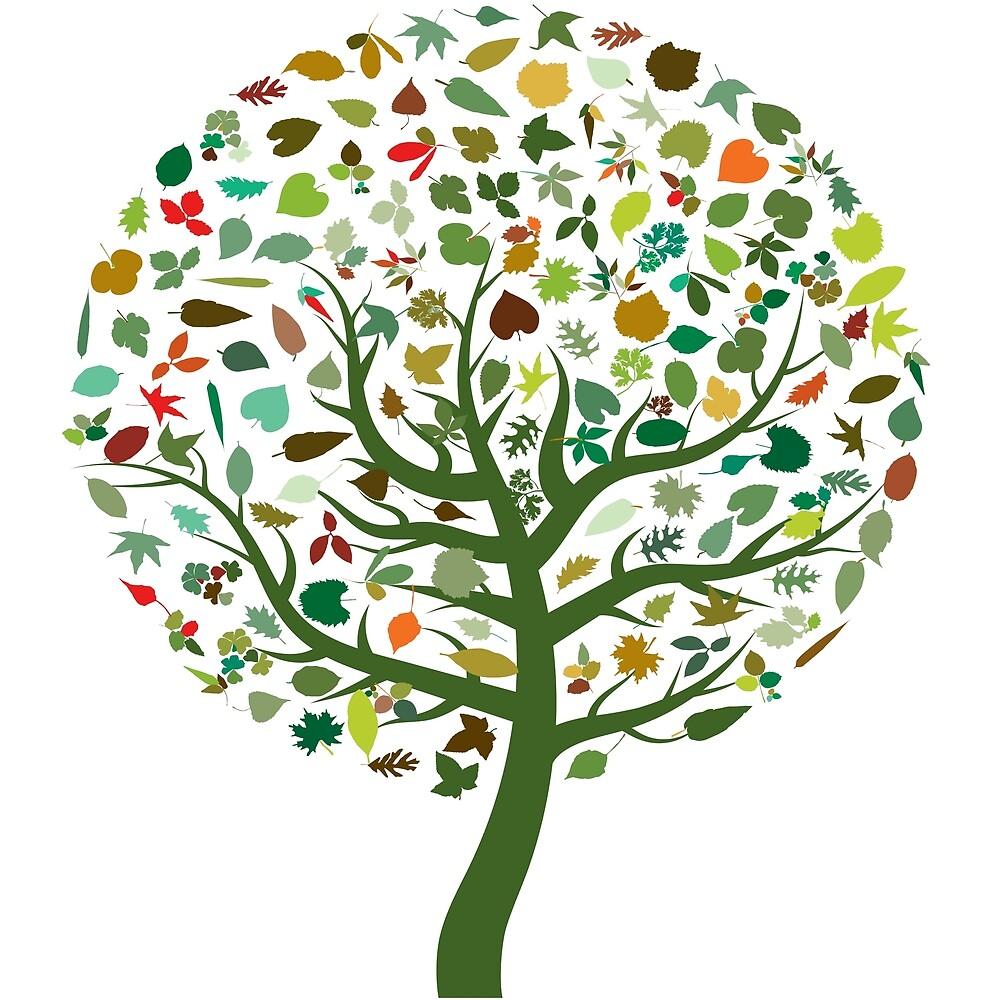 Colorful Tree by Kolorya