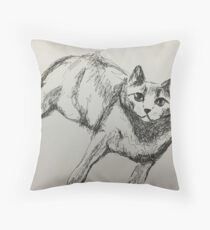 Camille black and white Throw Pillow