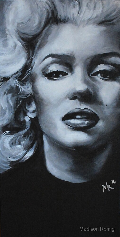 Marilyn-Black and White by Madison Romig