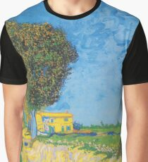 Avenue at Arles with houses - Vincent Van Gogh Graphic T-Shirt