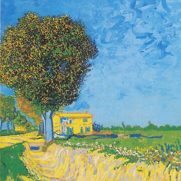 Avenue at Arles with houses - Vincent Van Gogh by vintageemporium