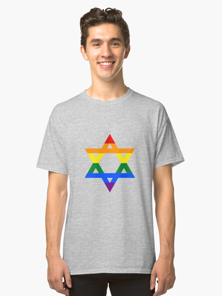 Gay Jew Pride Classic T-Shirt Front