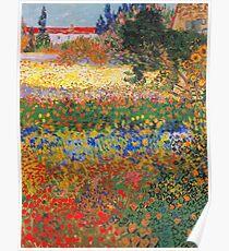 Blumen-Garten-Malerei von Vincent Van Gogh Poster