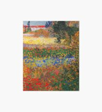 Flower Garden Painting by Vincent Van Gogh Art Board Print