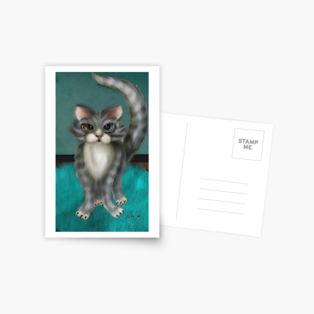 Boo Kitty Postkarte