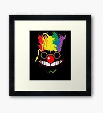 Cool Hipster Clown With A Rainbow Hair Framed Print