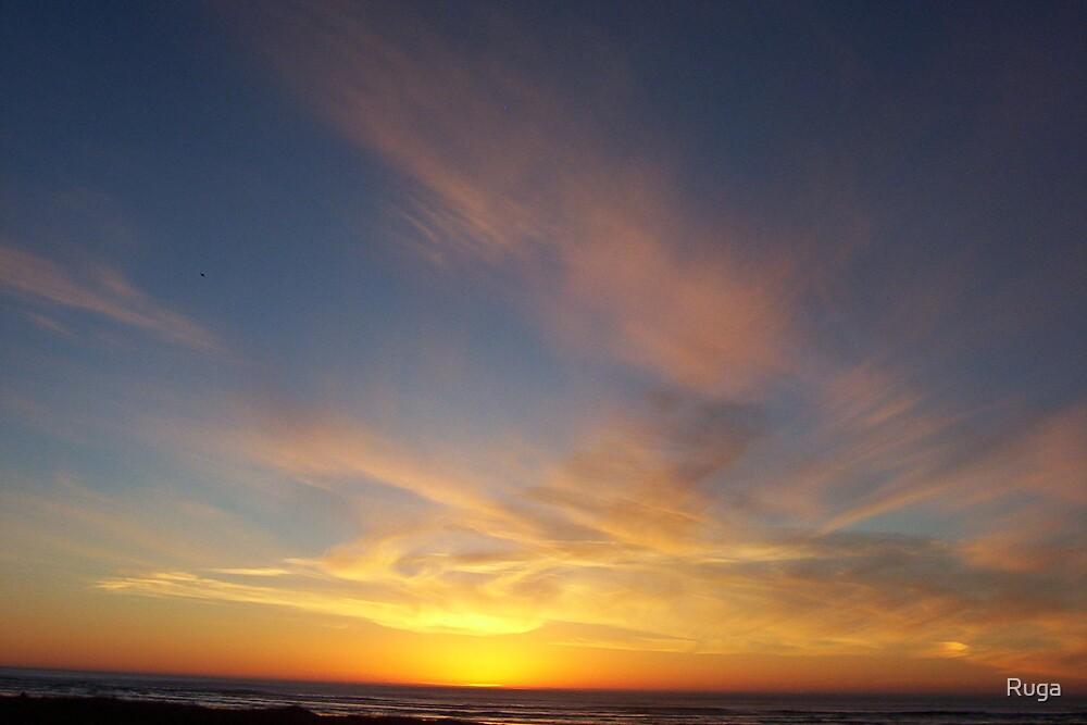 Seaside sunset by Ruga