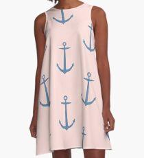 Peach in South Beach A-Line Dress
