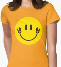 "Smiley Face Hands ""Shocker"" Womens Fitted T-Shirt"