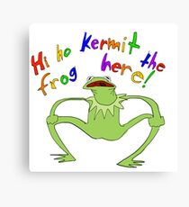 Kurmet the Frog Here! Canvas Print