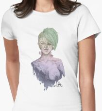 Cracked (Green Multicolor) WHITE T-Shirt