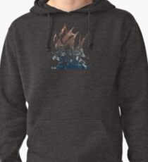 Pirate Bay distressed Pullover Hoodie