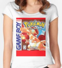 Pokemon Red Version Women's Fitted Scoop T-Shirt