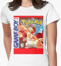 Pokemon Red Version Womens Fitted T-Shirt