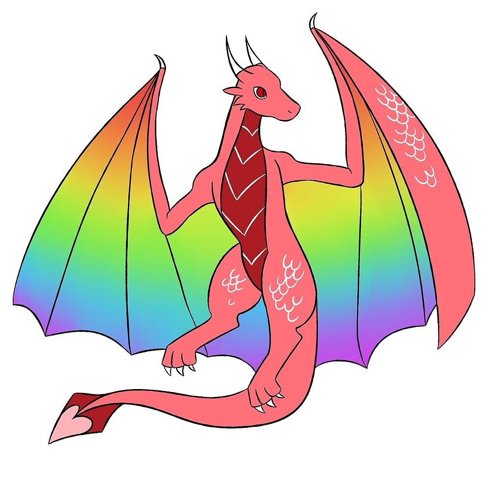 Gay Pride Dragon  by shegry