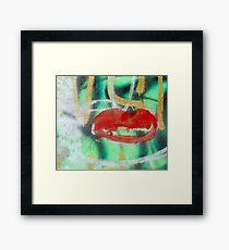 Red Kiss 3 Graffiti Framed Print