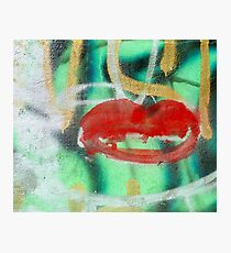 Red Kiss 3 Graffiti Photographic Print