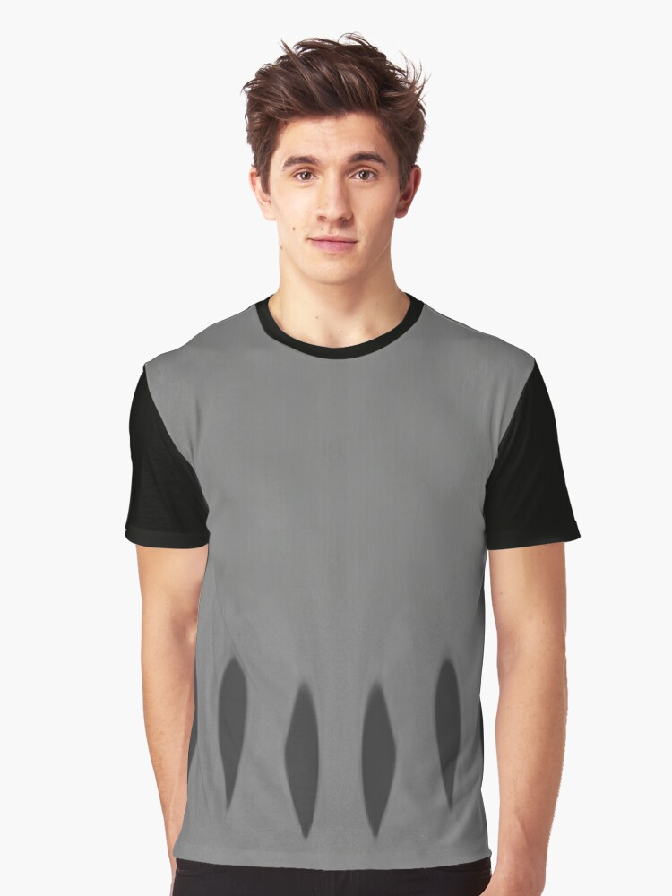 Tiger Trax - Black on Gray Graphic T-Shirt Front