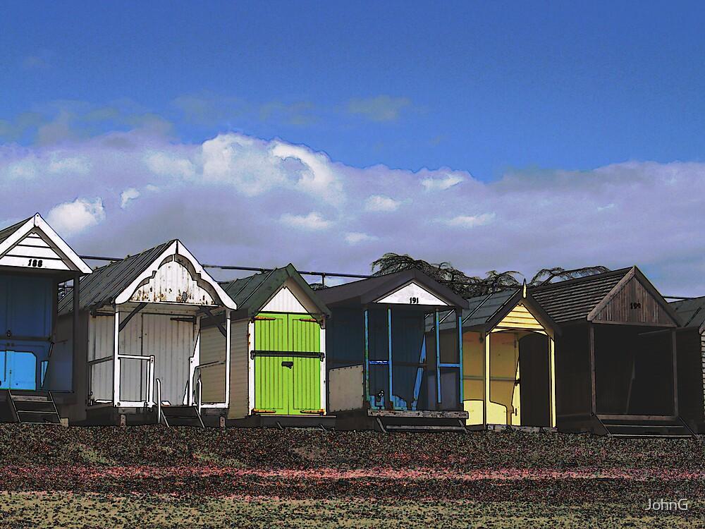Thorpe Bay Beach Huts by JohnG
