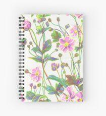 Fluro Flowers Spiral Notebook