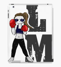 Lindsey Morgan - LM - Schwarz iPad-Hülle & Klebefolie
