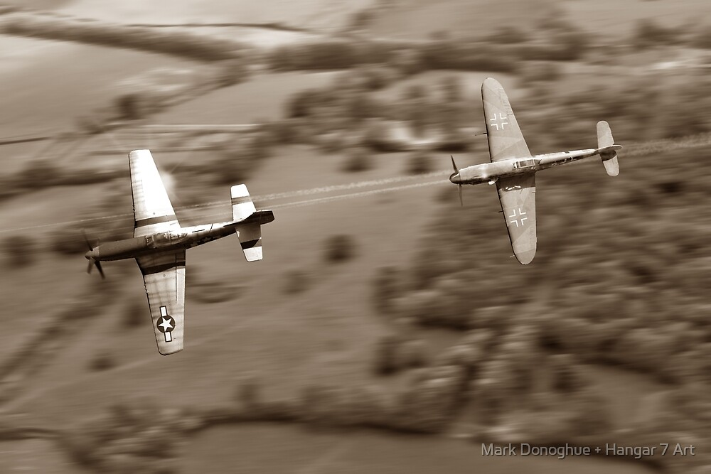 The Chase - Sepia by Mark Donoghue + Hangar 7 Art
