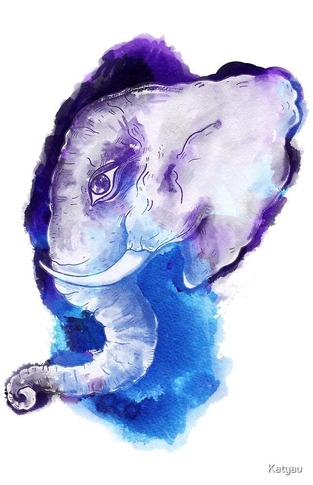 Elephant head.  by Katyau