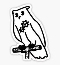 Vintage Artificial Owl 2 Sticker