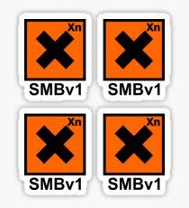 SMBv1: Hazardous to your health Sticker