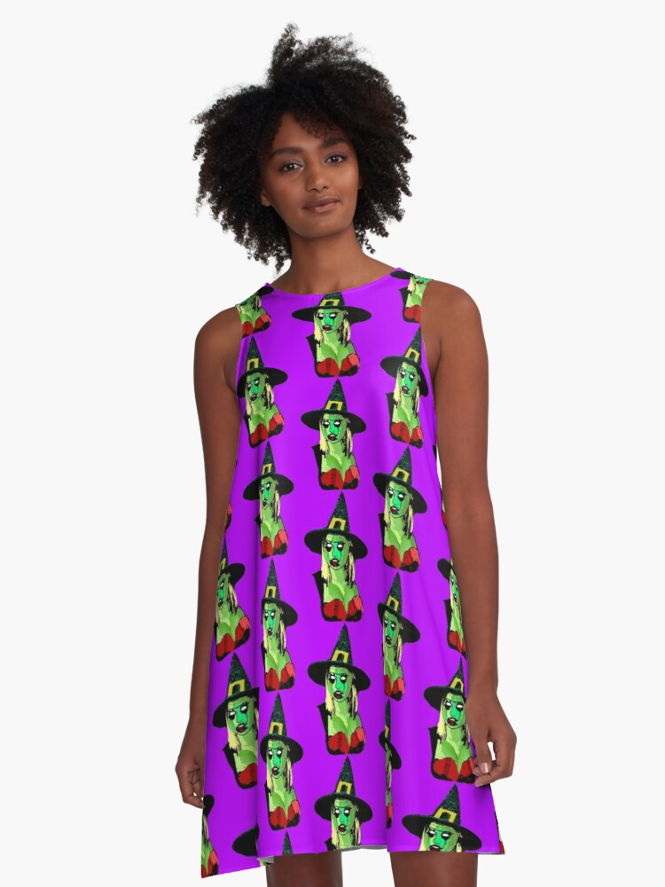 Witch Temptress A-Line Dress Front