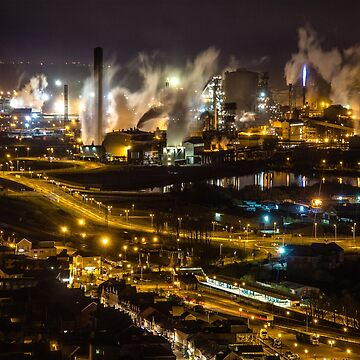 The Beast in the Night - Port Talbot Steelworks, South Wales by SimplyMrHill