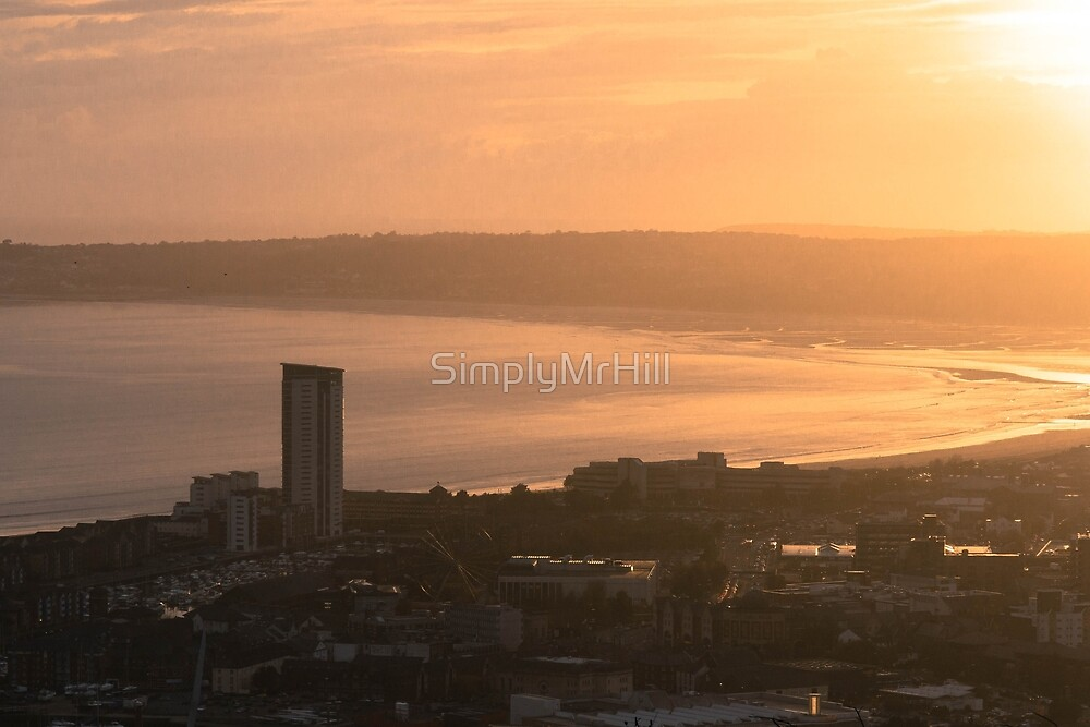 A Bay from the Heavens - Swansea by SimplyMrHill