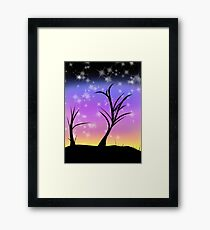 Sunset Sparkle Framed Print