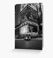 Fireman Times Square Greeting Card