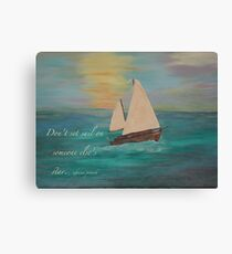 Sailing on Our Own Star Canvas Print