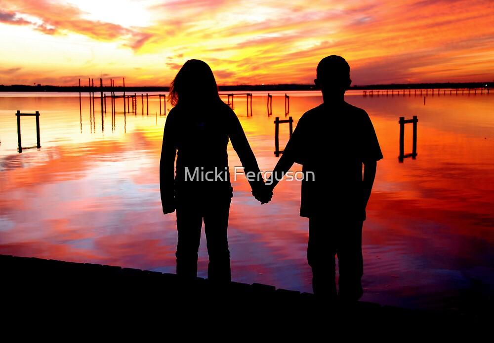 holding hands  by Micki Ferguson