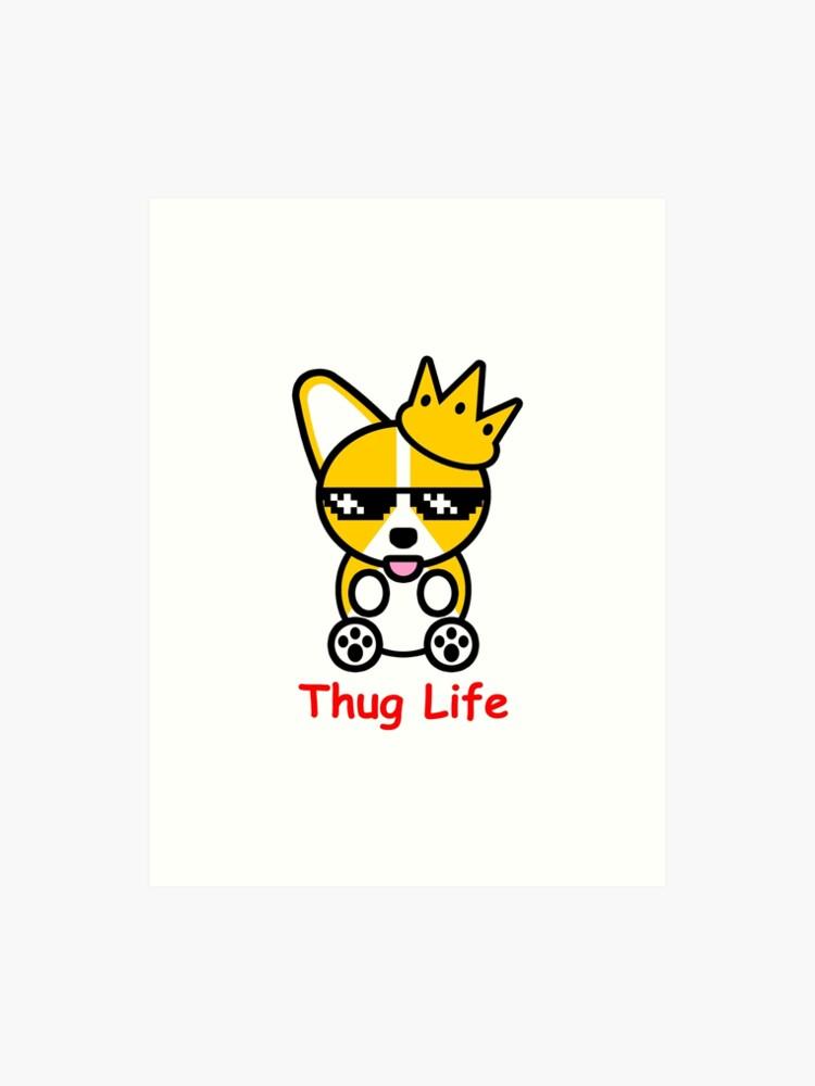 4fd1af07 Thug Life Corgi Shiba Inu Doge Meme Dog